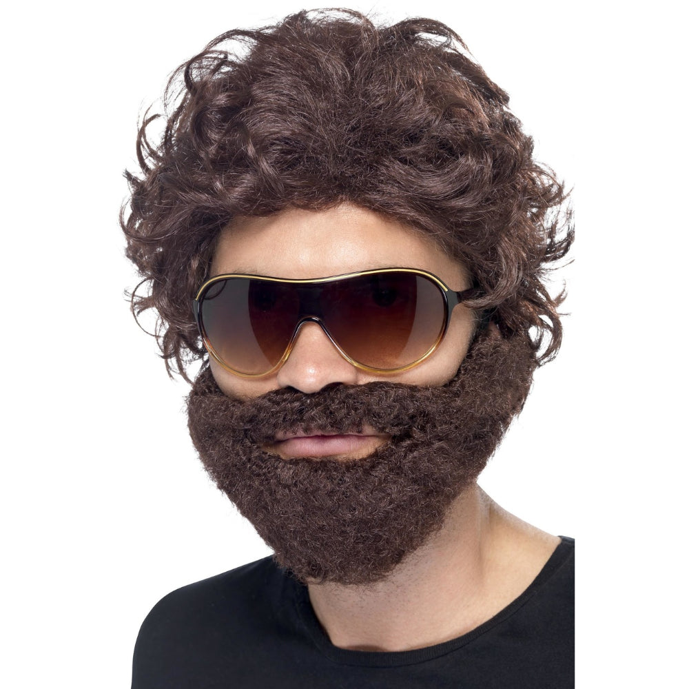 Stag Do Kit Wig With Beard & Sunglasses