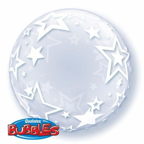 Deco Bubble Balloon Stylish Stars 24in