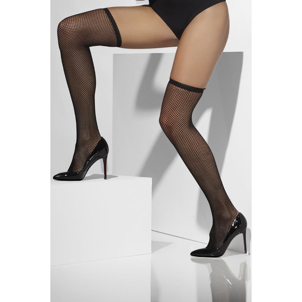 Fishnet Hold-Ups Black