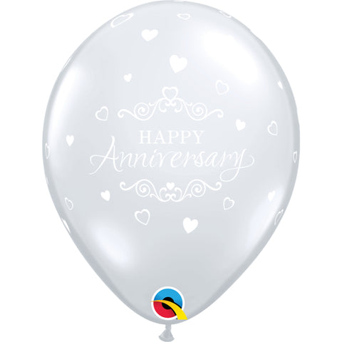 Anniversary Classic Hearts Diamond Clear 6 pieces