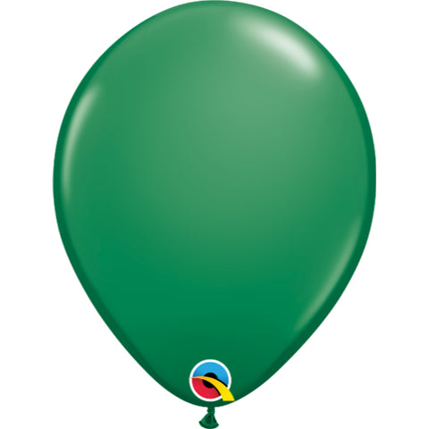 Standard Colours 11in Green Latex Balloons 6 pieces