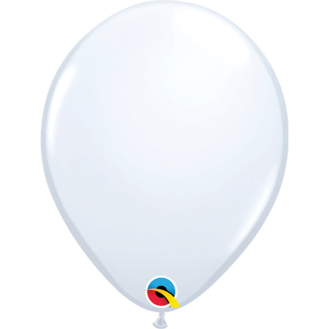 Standard Colours 11in White Latex Balloons 6 pieces