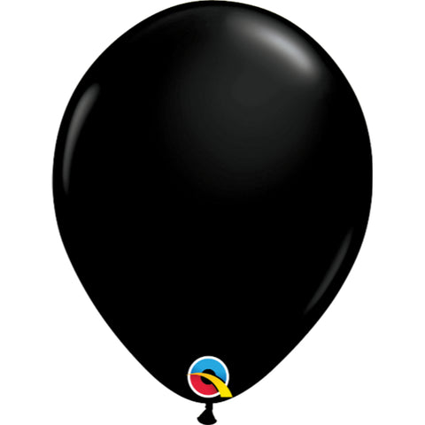 Fashion Colours 11in Onyx Black Latex Balloons 6 pieces