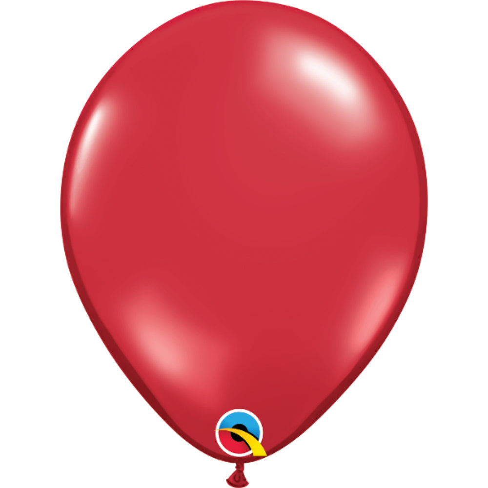 Jewel Colours 11in Ruby Red Latex Balloons 6 pieces