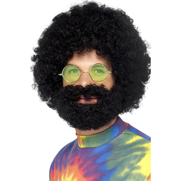 Groovy Dude Afro Wig With Beard