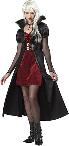 Blood Thirsty Beauty Adult Women Costume Black/Burgundy