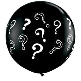3ft Latex Balloons Question Mark Onyz Black 2 pieces