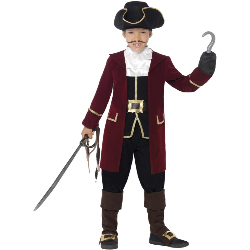 Deluxe Pirate Captain Boy Costume