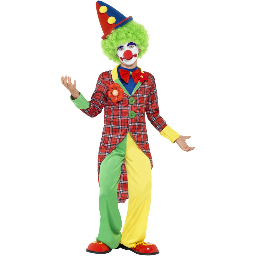 Clown Boy Costume Red & Green