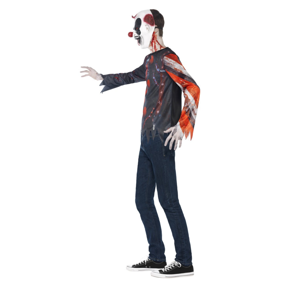 Sinister Creepy Clown Kit Teen Boy Costume