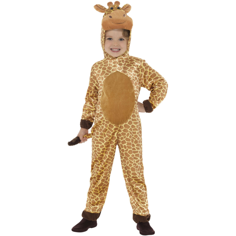 Giraffe Costume Brown With Hooded Jumpsuit & Tail