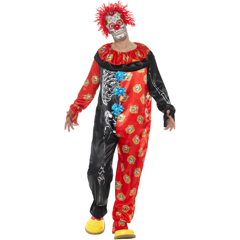 Deluxe Day Of The Dead Clown Boy Costume