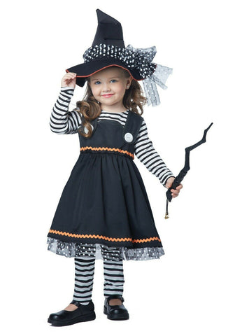 Crafty Little Witch Toddler Girls Costume 4-6