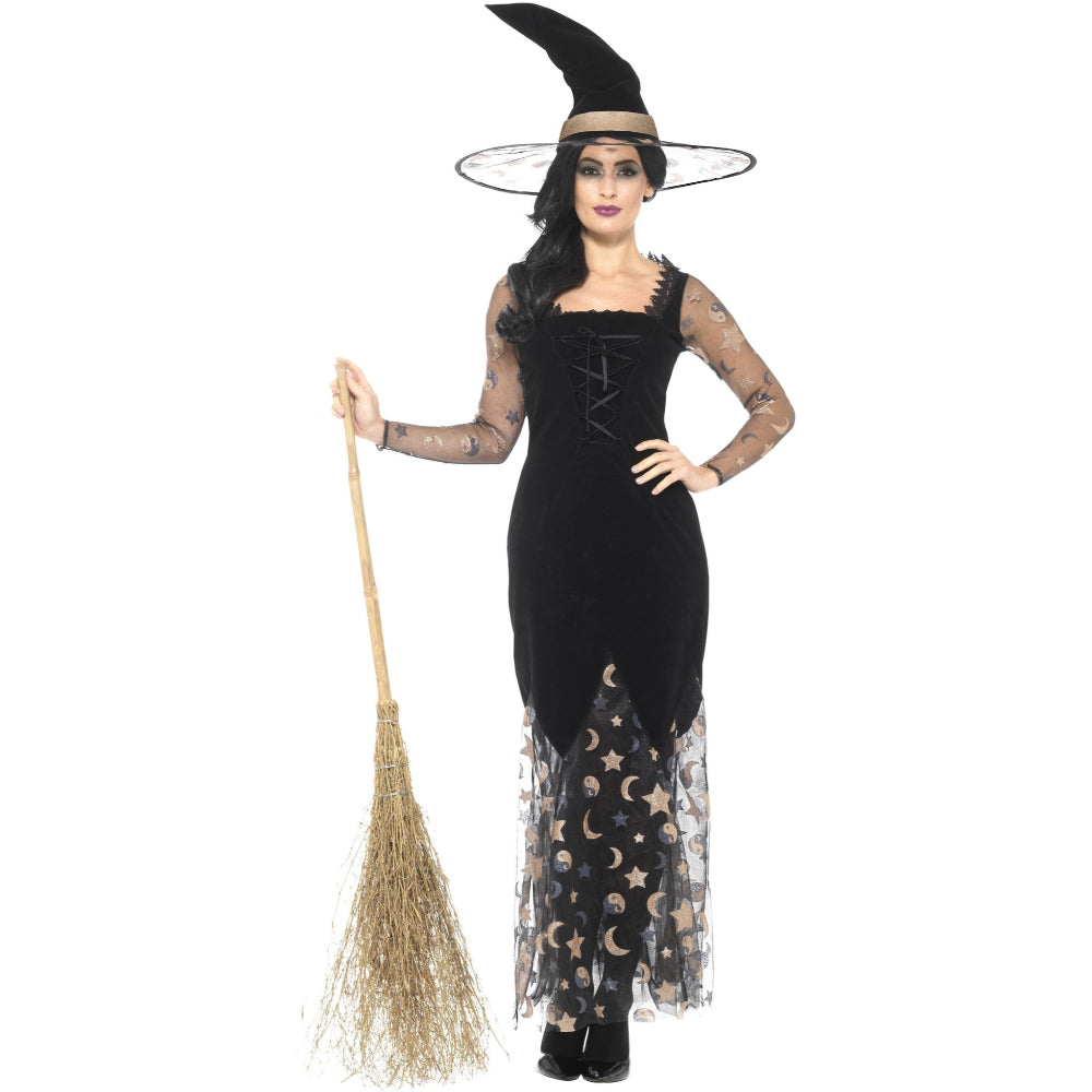 Deluxe Moon & Stars Witch Female Costume L