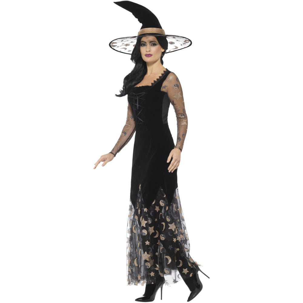 Deluxe Moon & Stars Witch Female Costume