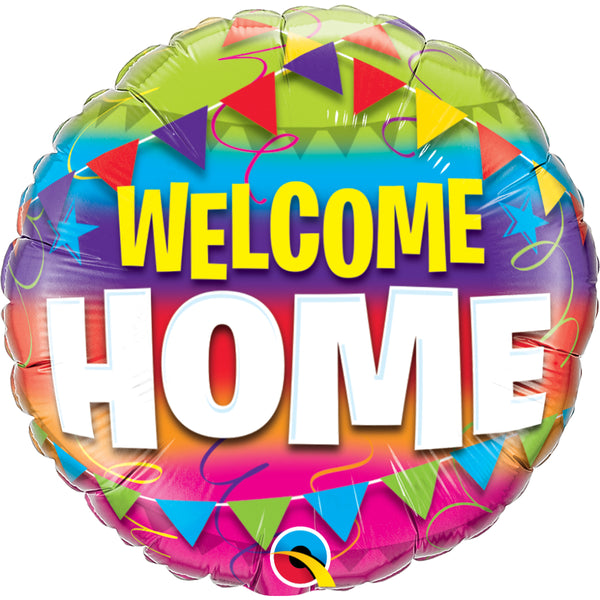 Welcome Home Pennants Foil Balloon