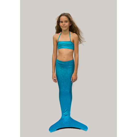 Glitter Blue Mermaid Girl Costume