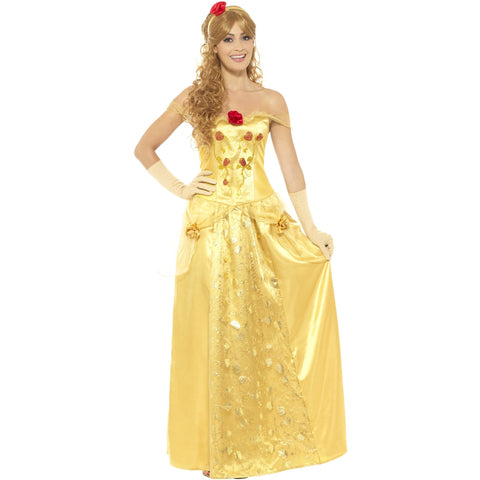 Golden Princess Female Costume Gold M