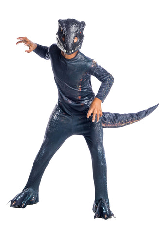 Jurassic World Fallen KingdoMaleVelociraptor Blue Costume