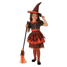 Polka Dot Witch Girl Costume