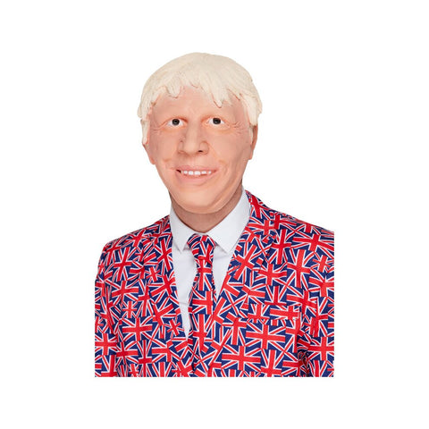 Posh Politician Kit Blonde Wig Tie & Rosette Badge