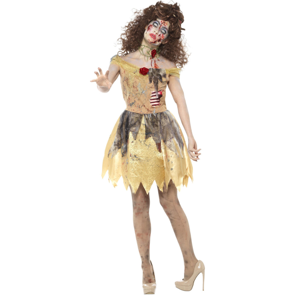 Zombie Golden Fairytale Girl Costume