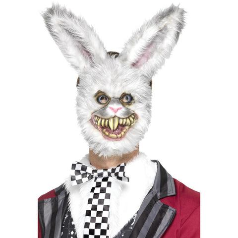 White Rabbit Mask With Fur