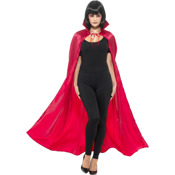 Satin Devil Cape Red
