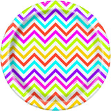 Rainbow Chevron Plates