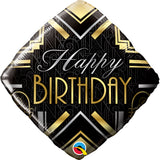Birthday Art Deco Milestone - Age Foil Balloon