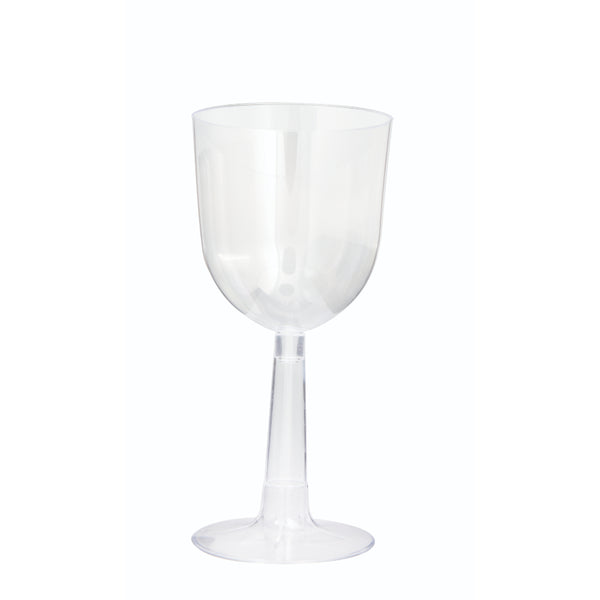 Premier Style Clear Plastic Wine Glasses