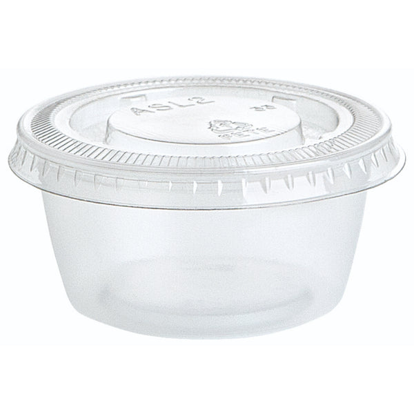 Premier Style Clear Plastic Gelatin Shot Cups With Lids