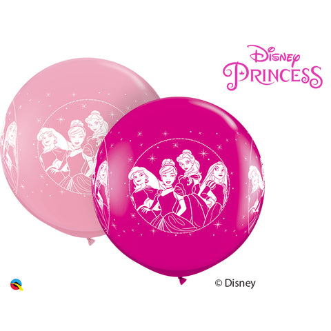 3Ft Pink & Wild Berry Dn Princesses Latex Balloons 02 pieces