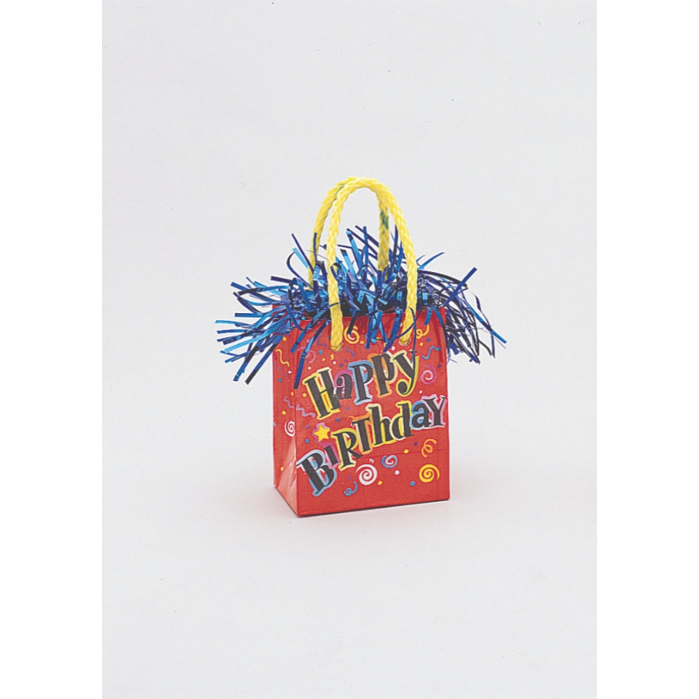 Happy Birthday Mini Gift Bag Balloon Weight