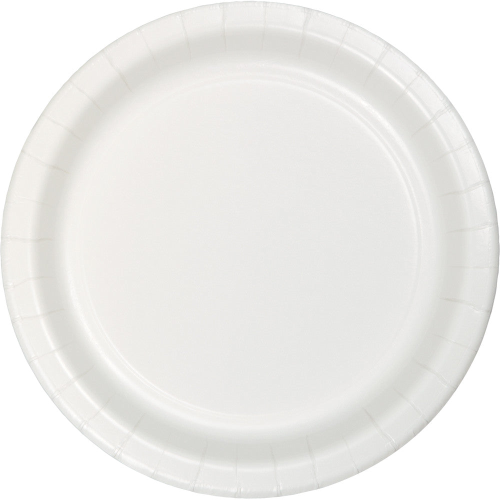 Touch Of Color White Round Luncheon Plate