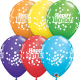 11In Tropical Assorted Latex Balloons - Birthday Confetti Do