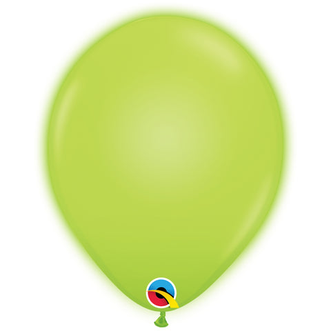 11in Q-Lite Green Latex Balloons
