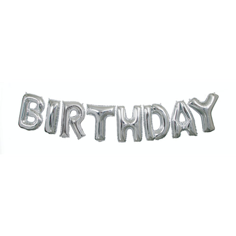 Happy Birthday Foil Balloon Letter Banner Kit