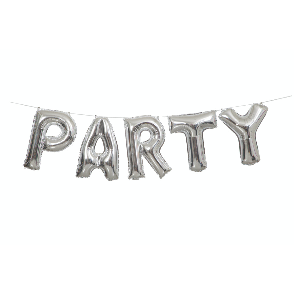 Party Foil Balloon Letter Banner Kit