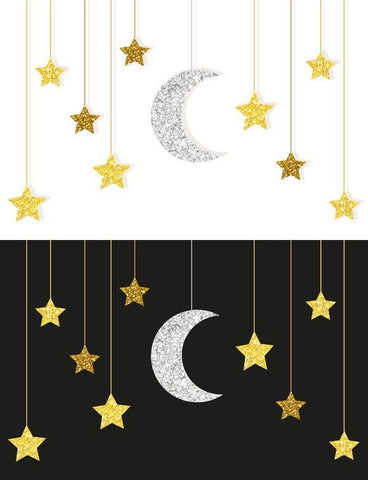 3d Crescent Moon & Star