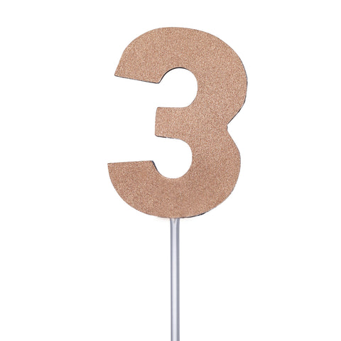 Diamond Cake Toppers with 4in Stick #3