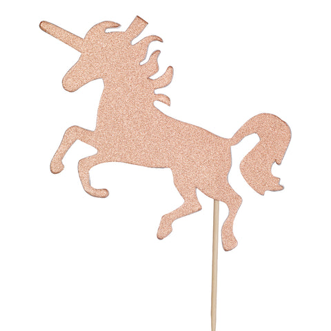 Diamond Cake Toppers Unicorn Rose Gold