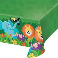 Jungle Safari Plastic Table Cover