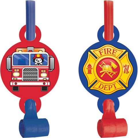 Flaming Fire Truck Blowouts with Medallion