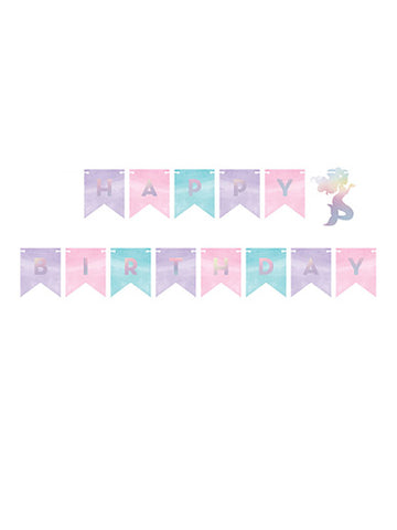 Mermaid Shine HBD Banner with Twine