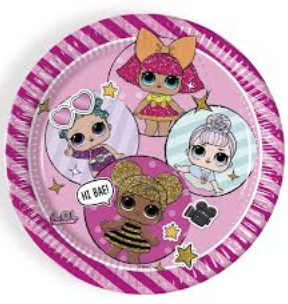 LOL Metallic Paper Plates 9in