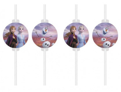Disney Frozen 2 Medallion paper drinking straws
