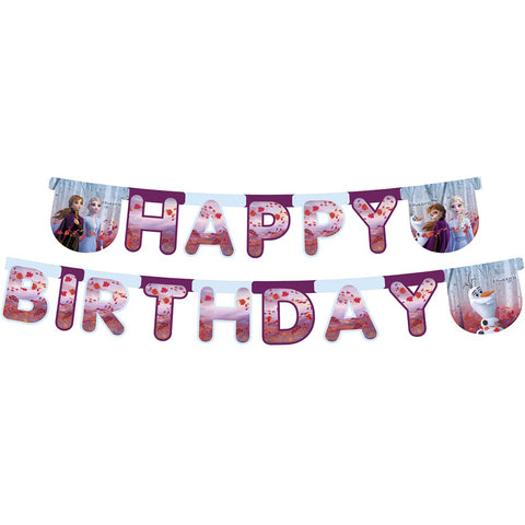 Disney Frozen 2 Die-cut Happy Birthday banner