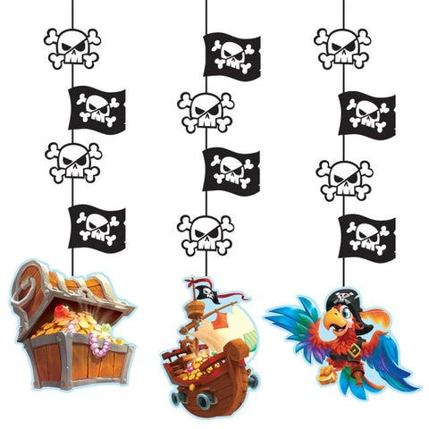 Pirate Treasure Hanging Cut Outs