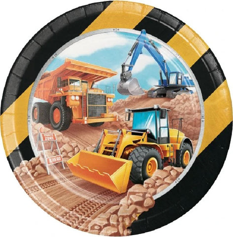 Big Dig Construction Dinner Plate